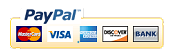 Pay with PayPal, Visa, MC, Amex