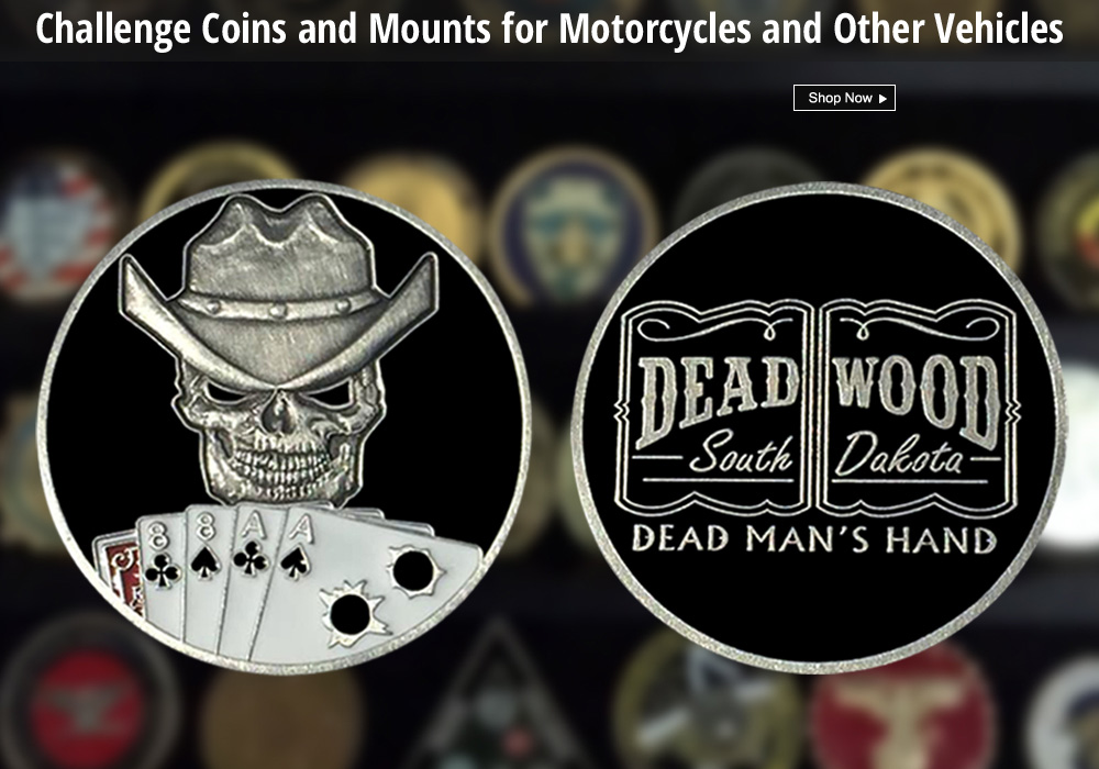 challenge coins and mounts deadwood