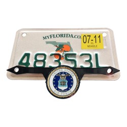 Blk License Plate Mount with airforce seal