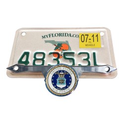 License Plate Mount  with airforce seal